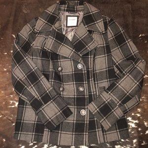 💕Plaid💕 Old Navy Pea Coat Large